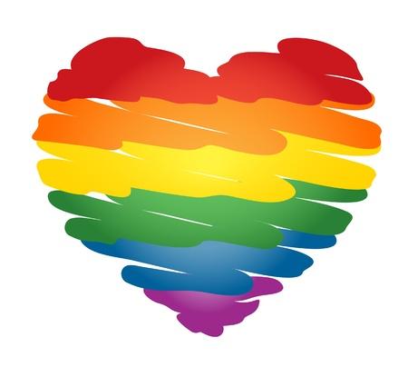 Rainbow heart Stock Vector - 15504456