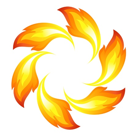 fireballs: Fire flower Illustration