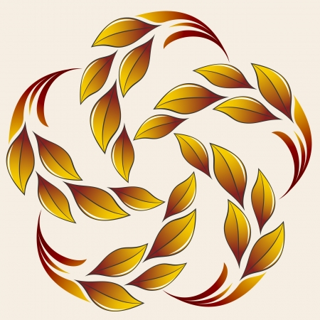 fall protection: Autumn leaves flower Illustration
