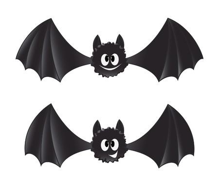 merrily: Two cartoon style bats