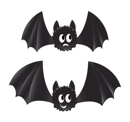 fanny: Two cartoon style bats