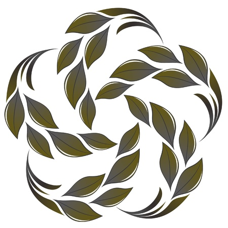 Leafs flower Ilustracja