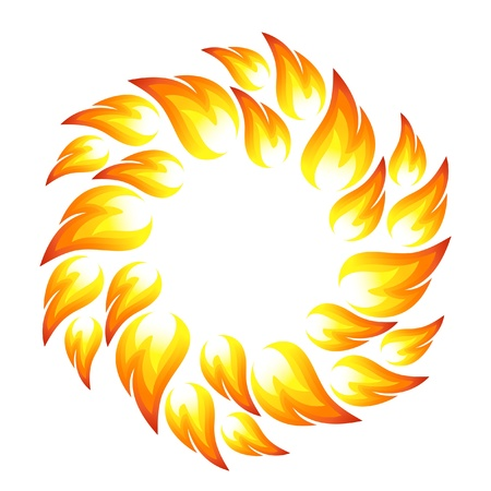 bonfire: Fire flower, sun Illustration