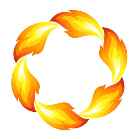 fireballs: Fire flower, sun Illustration