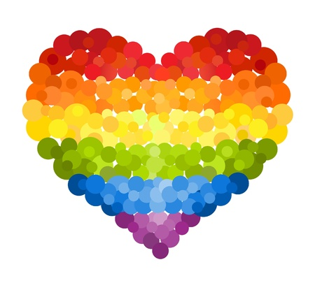 Confetti rainbow heart Stock Vector - 16239380