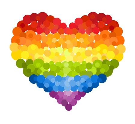Confetti rainbow heart Stock Vector - 16239380