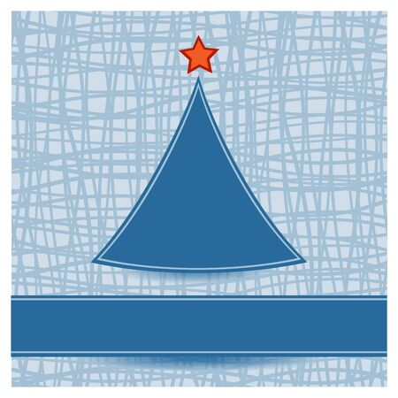 Simple Christmas tree on striped background Stock Vector - 16239468