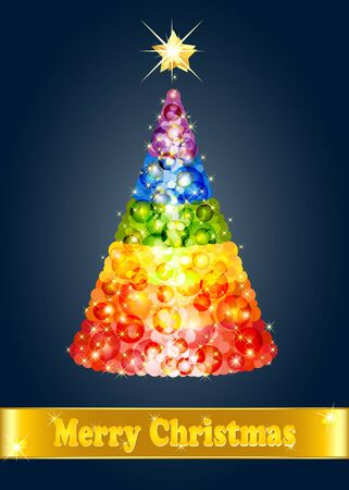 Confetti Christmas tree Stock Vector - 16239472