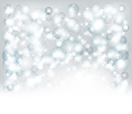 xm: Christmas background with lights, snowflakes and place for text