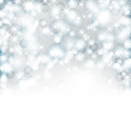 クリスマスの背景ライト、雪片およびテキストの場所に