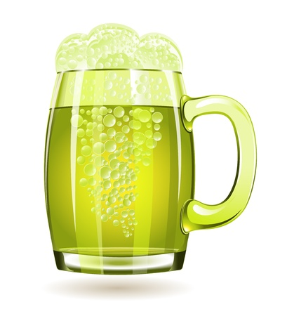 Mug of green beer isolated on a white background Stock Vector - 16762430