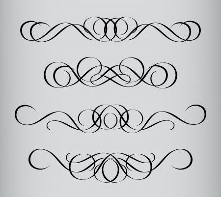inward: Frame in vintage style. Symmetric inward