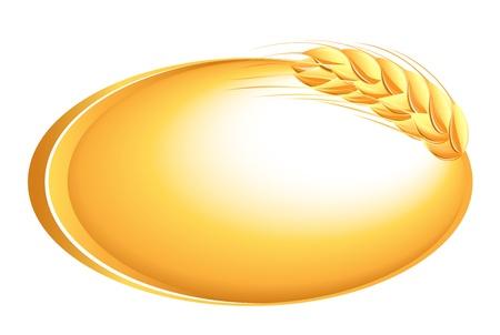 Tarwe oren icoon Stock Illustratie