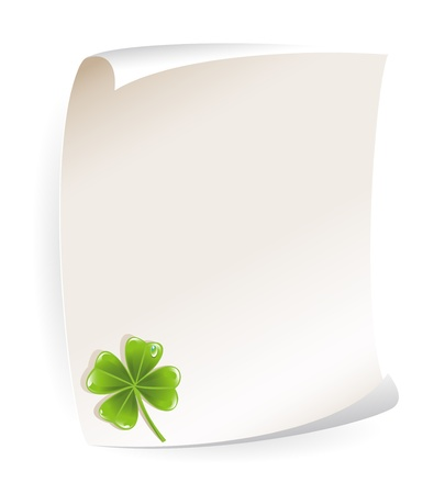 Paper notice board with shamrock Stock Vector - 16884947