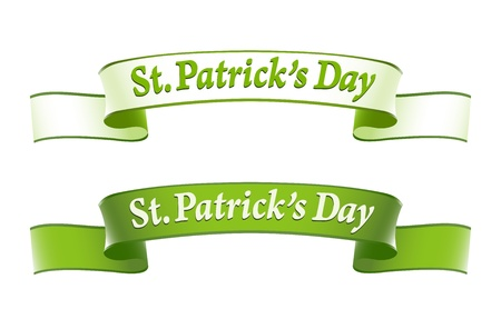irish pride: St.Patricks Day banners Illustration