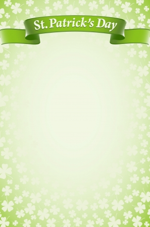 St.Patrick ontwerp achtergrond Stock Illustratie