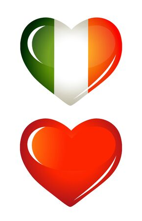 Ireland flag as Heart icon Vector