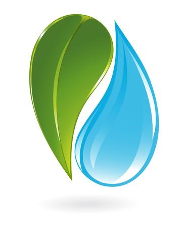 Plant en water pictogram Stock Illustratie