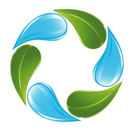植物と水循環  イラスト・ベクター素材