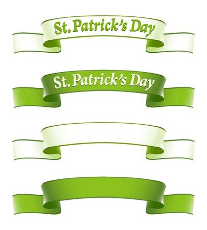 irish pride: St.Patricks Day banners Illustration