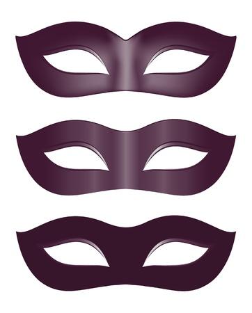 carnival mask: Carnival masks in black Illustration