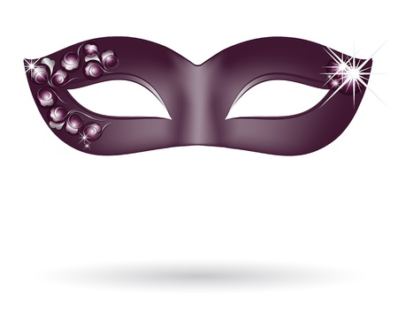 beauty mask: Carnival mask in black Illustration