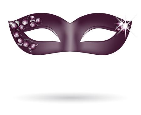 masquerade mask: Carnival mask in black Illustration