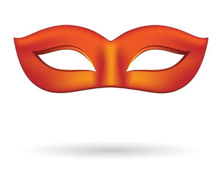 Carnaval maskers in het rood Stock Illustratie