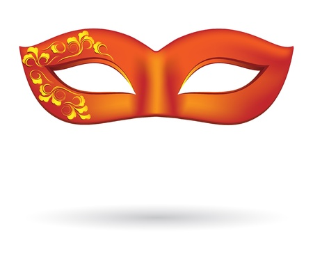 fasching: Carnival masks in red Illustration
