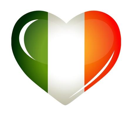 irish pride: Ireland flag as Heart icon