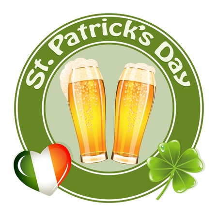 St.Patrick's Day banner with two beer glass Stock Vector - 17708260