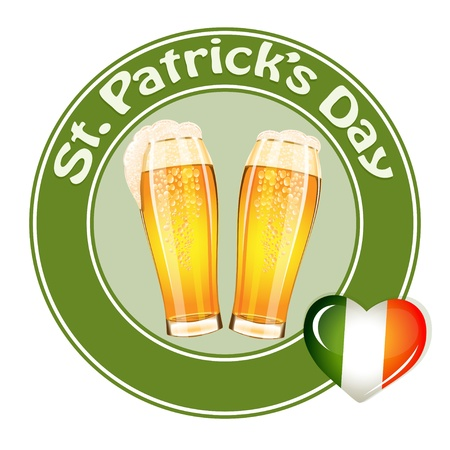 St.Patrick's Day banner with two beer glass Stock Vector - 17708262