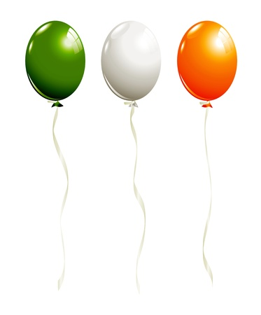 Balloons in irish colors Stock Vector - 17766164