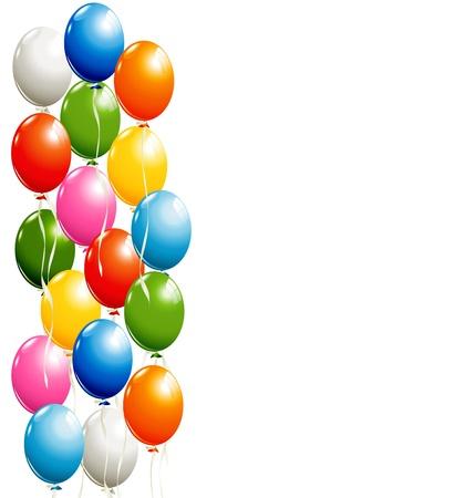 Vliegende ballonnen achtergrond Stock Illustratie
