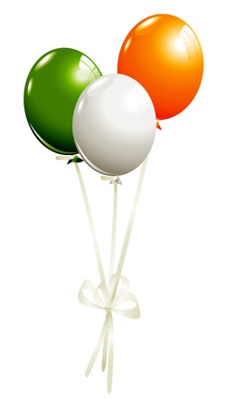irish pride: Balloons in irish colors