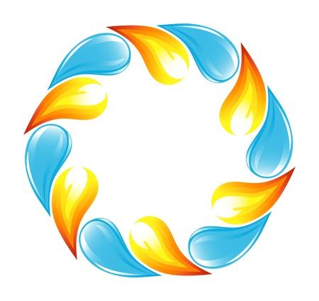 ciclo del agua: Fuego y agua ciclo Vectores
