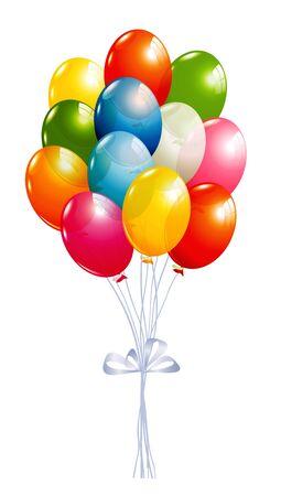 ballon: Flying balloons isolated on white Illustration
