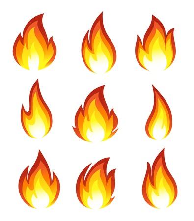 Collectie van brand pictogrammen