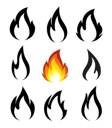 화재 아이콘의 컬렉션