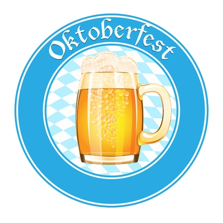 Oktoberfest banner with beer mug Stock Vector - 19704501