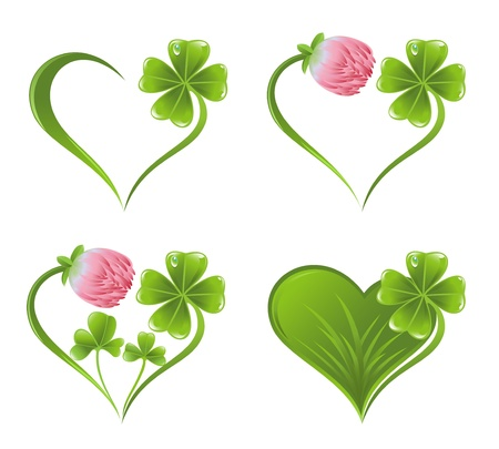 patric banner: Heart icon with clover leaf and blossom