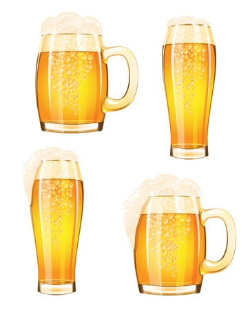 Mug of beer isolated on a white background