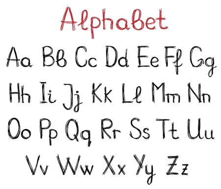 Hand drawn alphabet letters Stock Vector - 21319670