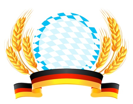 Oktoberfest banner with wheat ears Vector