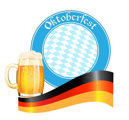 Oktoberfest banner with beer mug Stock Vector - 21319679