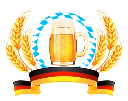 Oktoberfest banner with wheat ears Stock Vector - 21319686