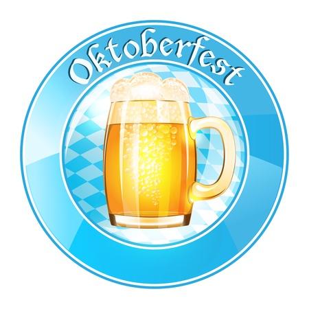 stein: Oktoberfest banner with beer mug
