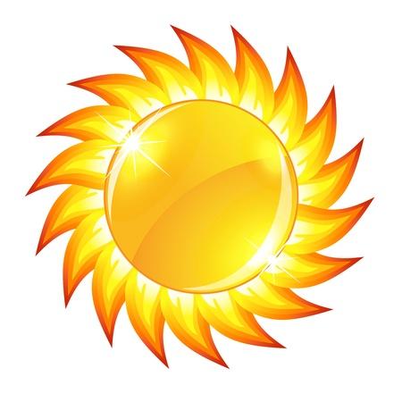 Glossy sun button  Stock Vector - 21319702
