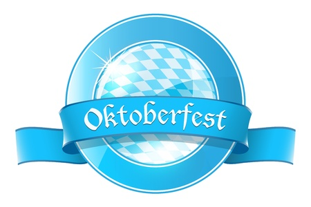 Oktoberfest round banner with ribbon Stock Vector - 21319707