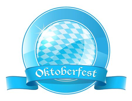 Oktoberfest round banner with ribbon Stock Vector - 21319708
